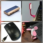 Buy Zync PB999 Power Bank 10400 mAh with Combo of Mouse, LED Fan and USB LED Navy Blue ( Color may Vary ) Online
