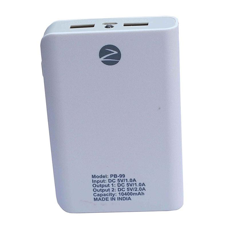 Zync Rock PB99 Power Bank 10400 mAh White images, Buy Zync Rock PB99 Power Bank 10400 mAh White online at price Rs. 999