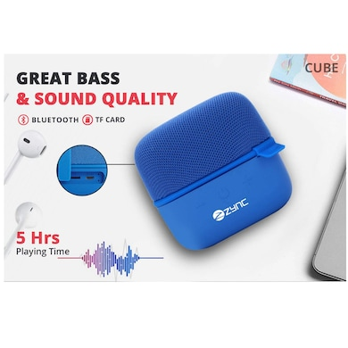 Zync Wireless Cube Portable Bluetooth Speaker Blue Price in India